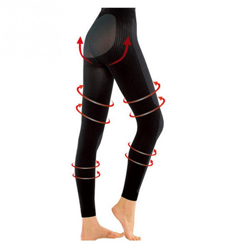New 3D Cutting Hip Lift Fat Burning Women   Leggings   Pressurized Soft Elastic Women Pants stretchy Body Shaper Slim Leg Shaping~