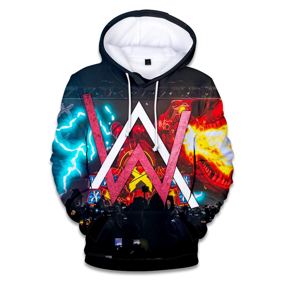 Hoodies Sweatshirts Pullover Letters Alan Walker Harajuku Hip-Hop 3d-Printing Autumn