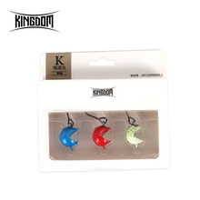XTS Fishing Lure 3 Pcs/Box 3.5g 5.5g 7.5g 10.5g Jig Head Hook Barbed Accessory For Worm Soft 3019