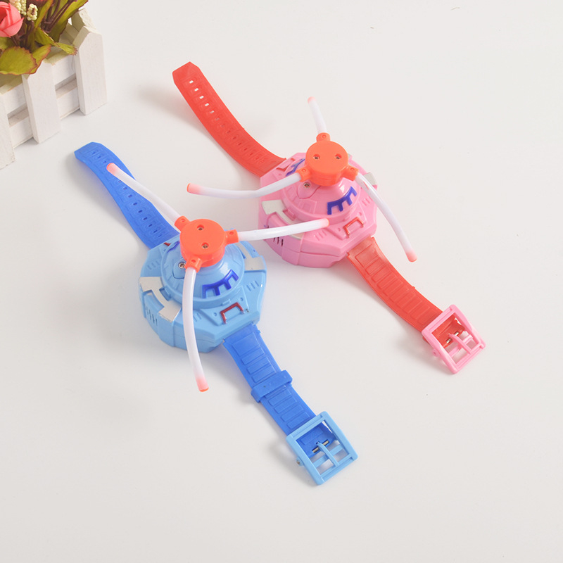 Children's Electric Toy 3 Lights Music Wrist Windmill LED Seven Color Flashing Light Watch Toy Luminous Toys Novelty Gag Toys
