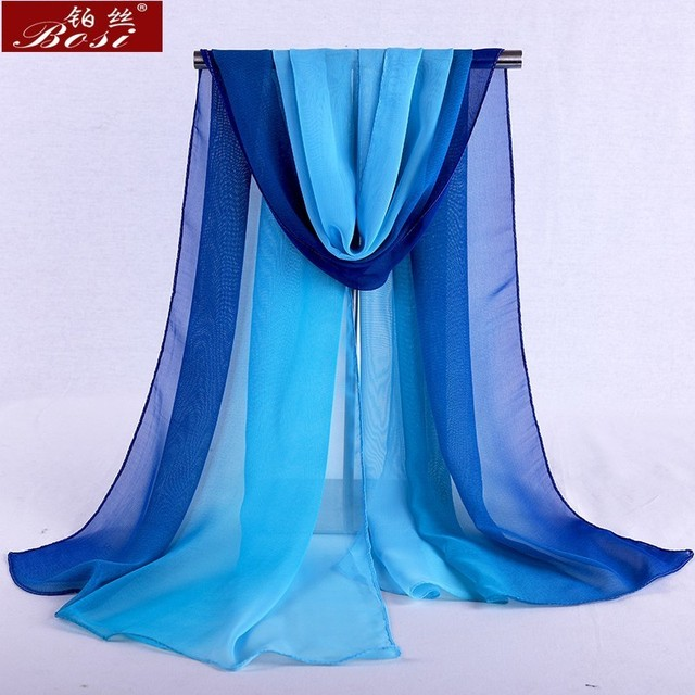 Chiffon scarf gradient women hijab winter brand autumn red long scarfs poncho luxury ladies scarves shawl sjaal long bohemian gg 5