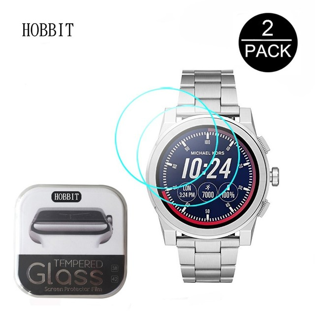 f3837cf100ac 0.3mm 2.5D 9H Tempered Glass Screen Protector For Michael Kors Access  Grayson MKT5026 MKT5027 MKT5025 MKT5029 MKT5037 MKT5038