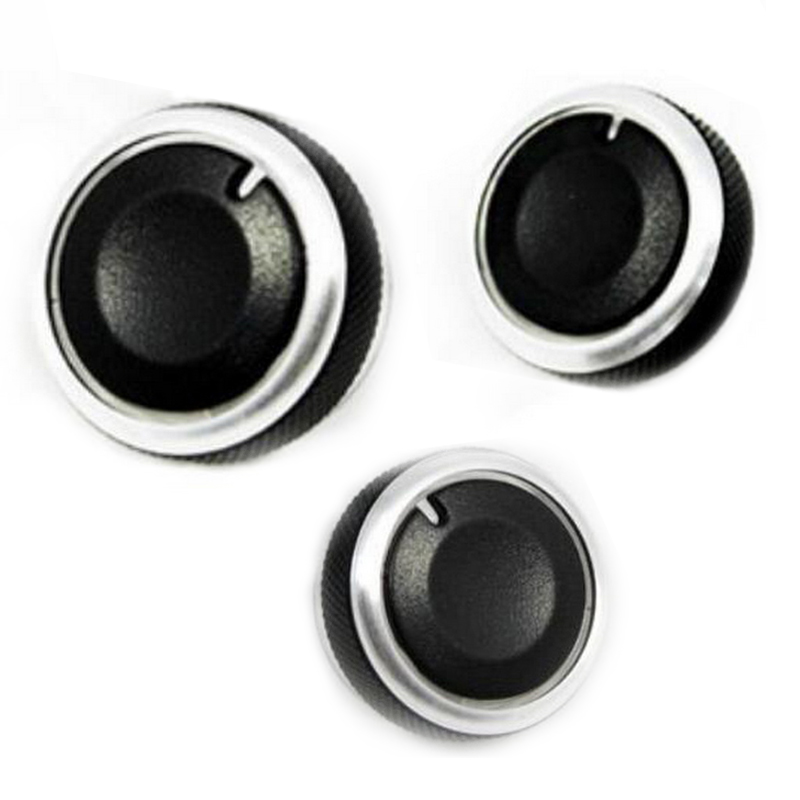 Decoration 3 PCS Aluminum Alloy Air-Conditioning Knobs Switch For <font><b>Mazda3</b></font> Mazda 3 2003 2004 2005 2006 <font><b>2007</b></font> 2008 2009 image