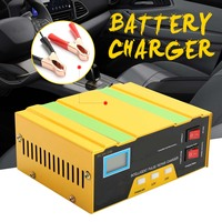Full Automatic Car Battery Charger 12V 24V Motorcycle Car Intelligent Charger 100AH Smart Fast Pulse Repair Charger