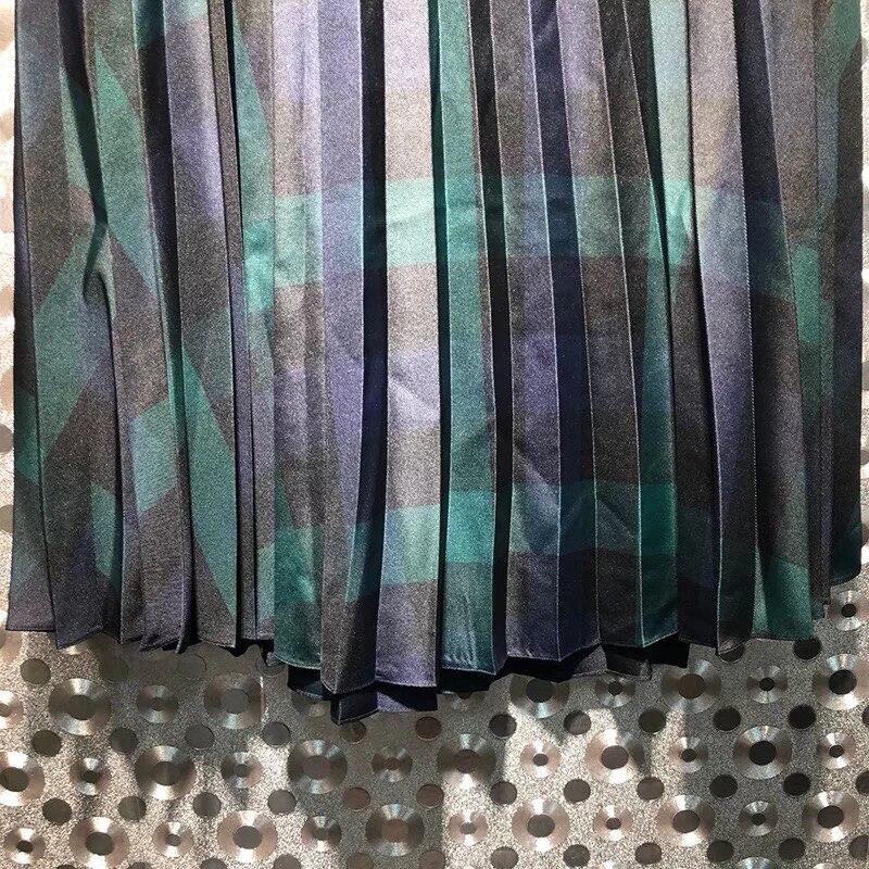 Cintura La Las Otoño Rayas Color Estilo Ajustar Moda Invierno Faldas El Mujeres Británico Nueva Larga A De Y 1wqzP1Hv