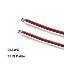 3PIN Cable,20AWG,Wire,for 2835 3528 5050 WWCW CCT LED Strips,Low Voltage DC5V/DC12V/DC24V, Linear Lighting,Rigid bar