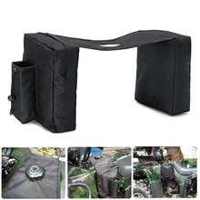 Водонепроницаемый ATV Снегоход аксессуар бак седельная сумка мотоциклетные седельные сумки бутылка для воды черный ткань Оксфорд защитные шестерни