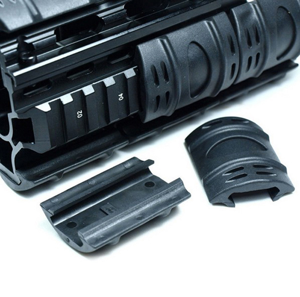 Rubber Tactical Picatinny Hand Guard Quad Rail Covers Rubber Weaver Rail Covers 12pcs Set.