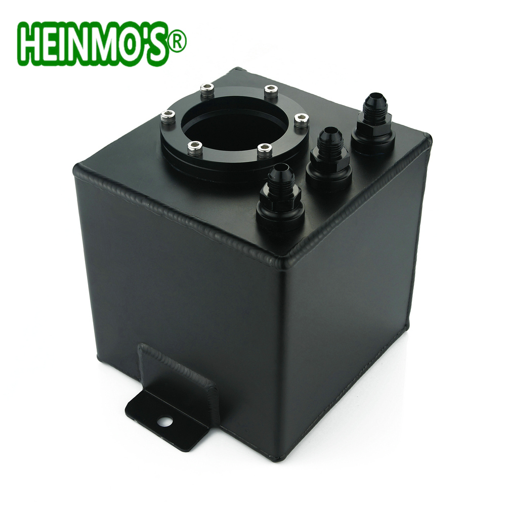 Universal 2L Fuel Surge Tank Petrol Can Swirl Pot System Polished Alloy Aluminum Reservoir Oil Catch Can Supply Tank