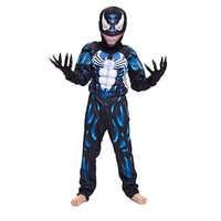 New Arrival Child Black Spiderman Boys Muscle Venom Movie Character Cosplay Superhero Halloween Carnival Fancy Dress Costume