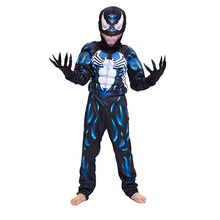 New Criança Chegada Preto Venom Spiderman Muscular Meninos Personagem do Filme Cosplay Superhero Halloween Carnaval Traje do Vestido Extravagante(China)