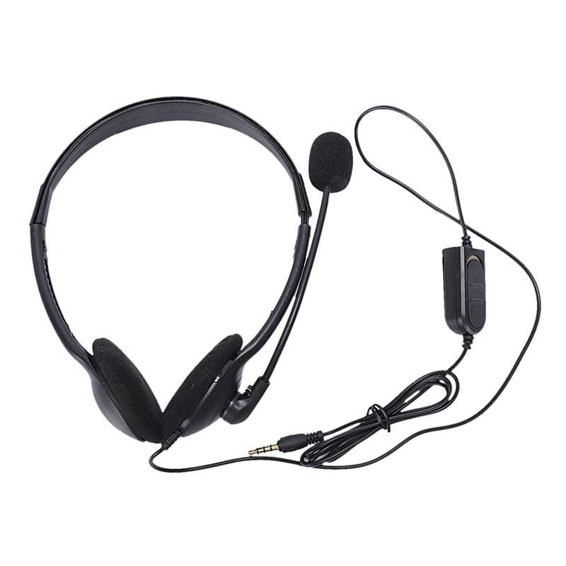 3.5Mm Wired משחקי אוזניות משחק אוזניות מיקרופון סרט עם מיקרופון סטריאו בס עבור מחשב מחשב פלייסטיישן 4 Ps4-Hot