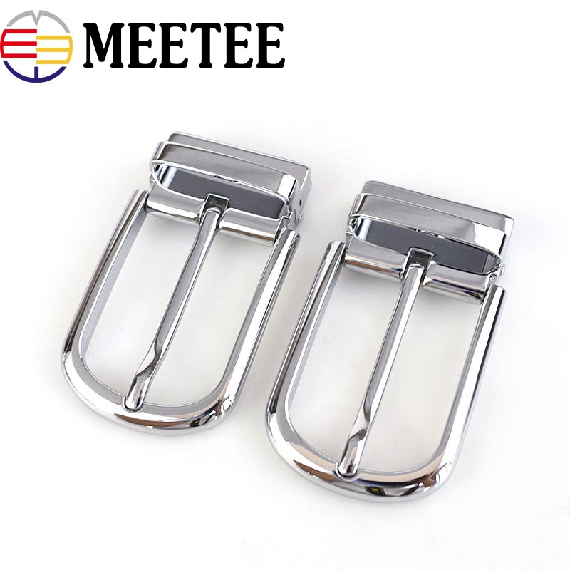 Power Source Meetee 35cm Width High Quality Men Belt Buckles Rotating Alloy Pin Buckle Suitable 33-34mm Belt Diy Mens Jeans Accessories