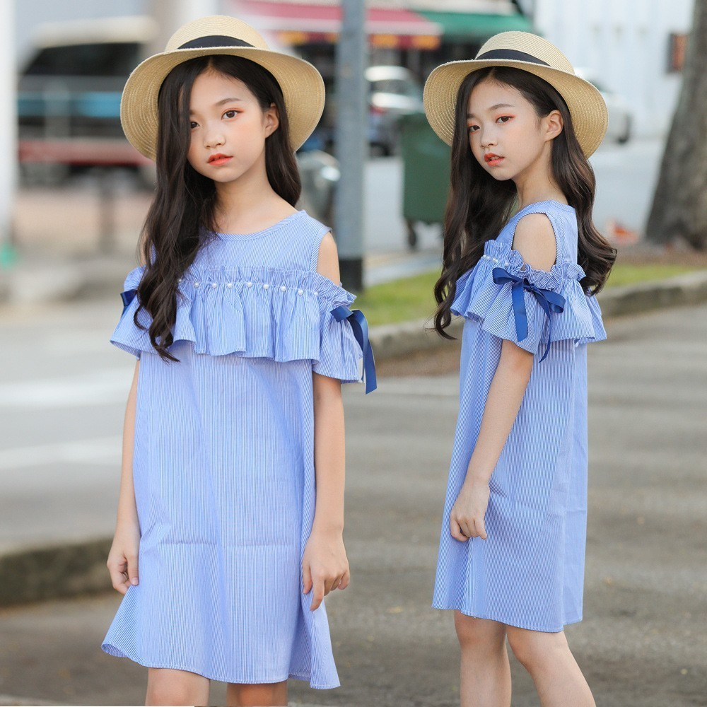 c30fde3b9fb49 Beading Big Girl Party Dresses Clothing 2019 Bow Cotton Ruffles Patchwork  Girls Summer Dress Size 16 14 12 10 8 6 4 Kids Clothes