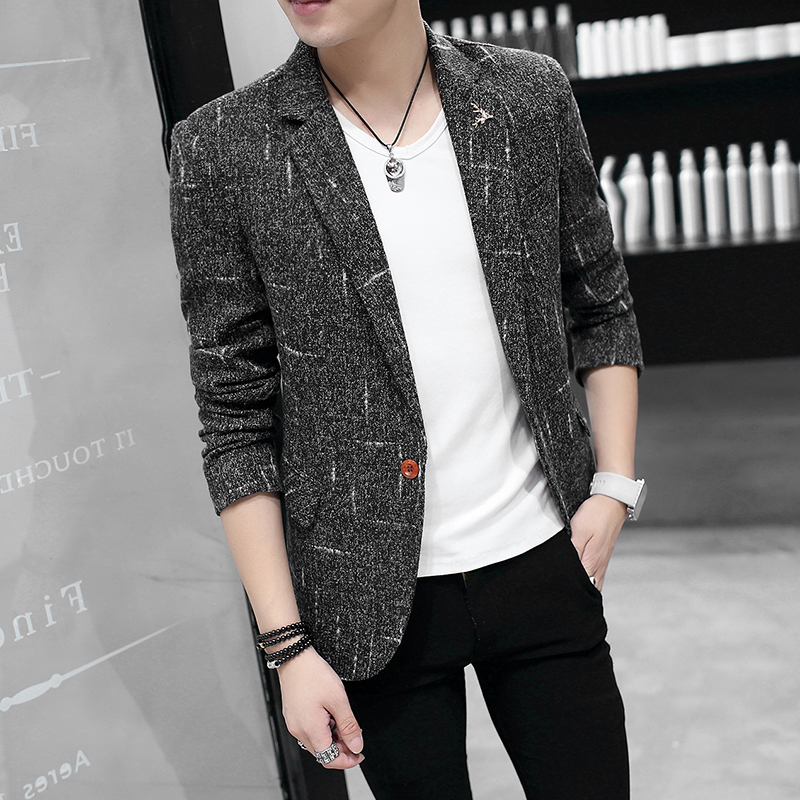 2019 Spring Burst Models New Men's Slim Small Suit Jacket Casual Male Jacket