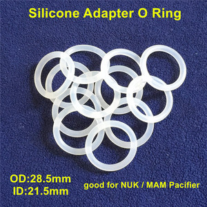 Image 4 - Chenkai 100pcs Transparent Silicone Mam Ring DIY Baby Pacifier Dummy NUK Clear Adapter O Rings Holder Chain Toy Accessories