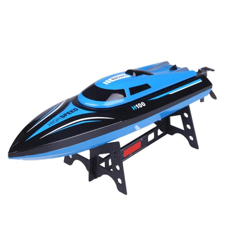 VKTECH Cool RC Boat H100 2.4GHz 4 Channel LCD High Speed Racing Remote Control Boat RC Toys for Children Christmas Gifts