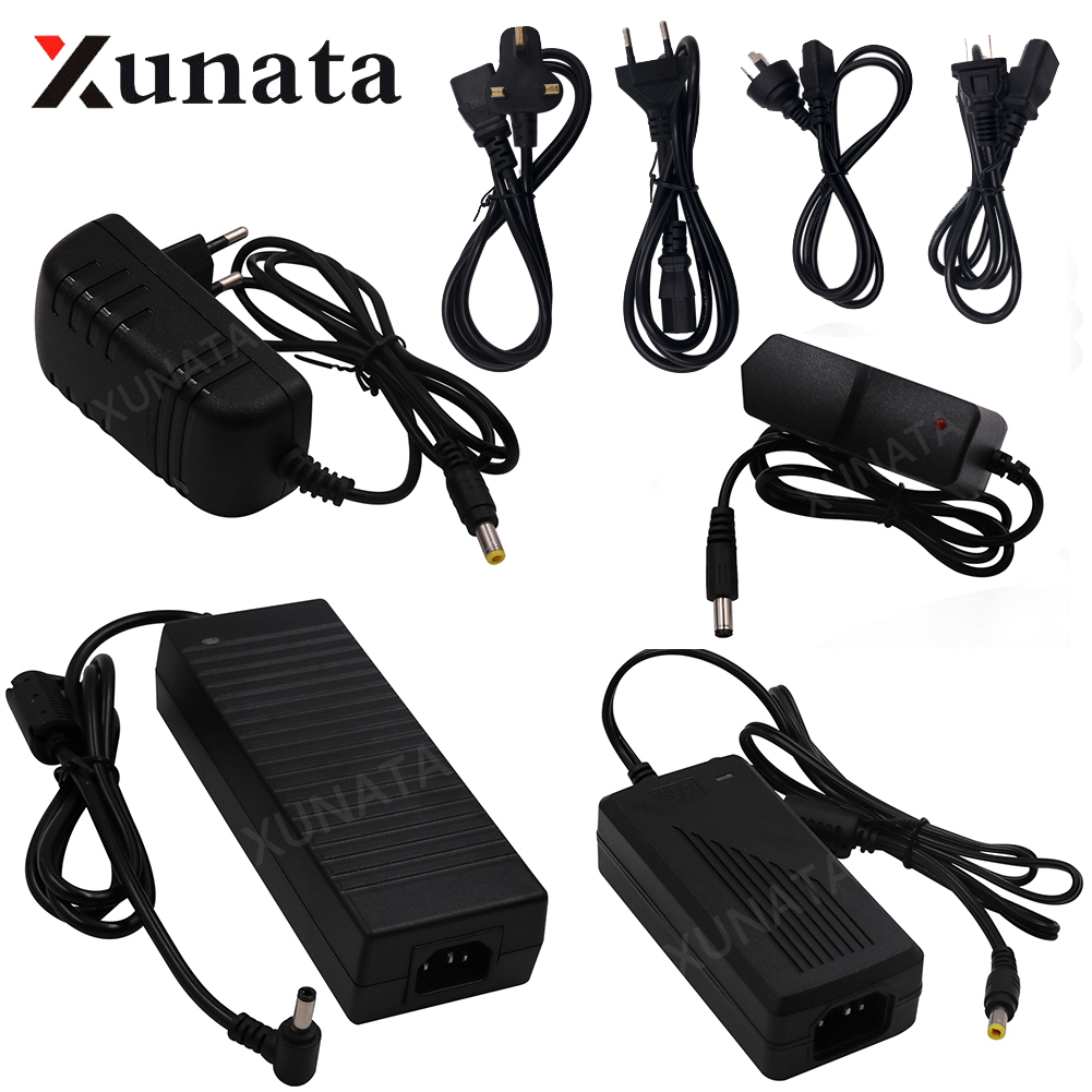 AC100-240V To DC12V 1A 2A 3A 5A 6A 8A 10A Switching Adapter For LED Light Strip EU US UK AU 12V Power Supply Set hqcam 420tvl sony ccd 940nm led camera pir mini camera covert audio night vision camera pir ir camera pir motion detector