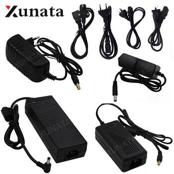 Adaptador de conmutación para tira de luces LED, AC100-240V a DC12V 1A 2A 3A 5A 6A 8A 10A, conjunto de fuente de alimentación EU US UK AU 12V