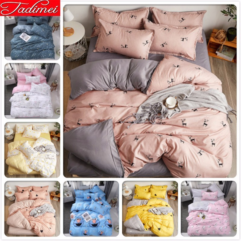 Adult Kids Soft Cotton Duvet Cover Bedding Set Bed Linen Single Twin Queen King Size 150x200 180x220 200x230 220x240 Bedspreads