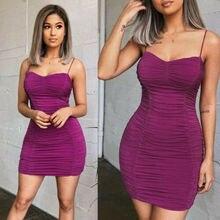 2019 Women Sexy Mini Dress Strappy Ladies Club Wear Evening