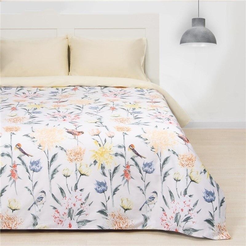 Bed Linen Ethel 1.5 CN Summer morning, size 143х215 cm, 150х214 cm, 50х70 cm-2 pcs, Mako-Satin 128g/m2 bed linen ethel 1 5 cn imperial 143х215 cm 150х214 cm 50х70 3 2 pcs ранфорс 111g m2