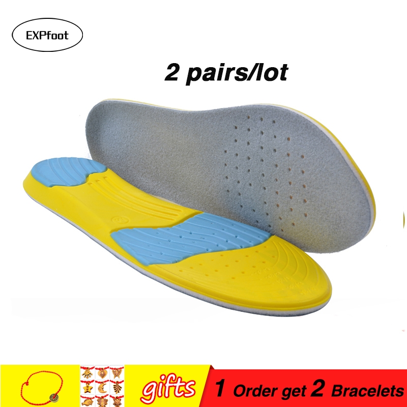 2 pair Unisex  size sport insoles arch support shock shoe pad cushion athletic running antibacterial anti-odor sweat absoprption2 pair Unisex  size sport insoles arch support shock shoe pad cushion athletic running antibacterial anti-odor sweat absoprption