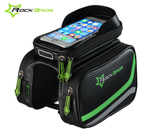 RockBros Bicycle Frame Bag Pannier Tube Touchscreen 5.8/6.2 Phone Holder