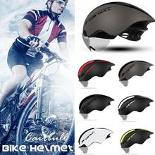 Cairbull Bike Helmet Pneumatic TT Road Mountain Racing Riding Men In-molded Safty MTB Bicycle Cycling Helmet Lens Goggle 56-61cm c01 02 ultra light road bike pneumatic helmet mountain mtb helmet the overall molded bicycle helmet bicycle riding equipmen