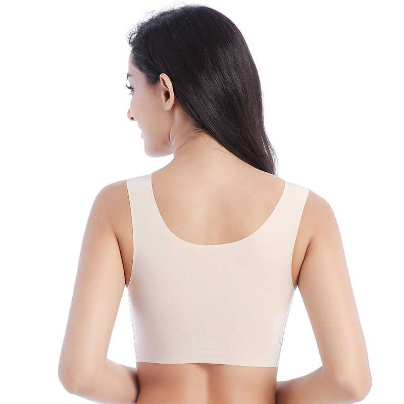 VEQKING كبيرة حجم M-4XL النساء مرونة عالية الرياضة حمالات الصدر سلك مجانية مبطن سلس رياضة اللياقة البدنية تشغيل اليوغا الصدرية النوم الرياضة خزان أعلى