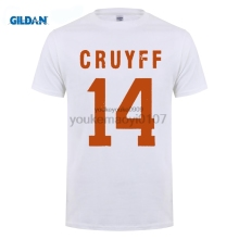 GILDAN O-neck Fashion Casual High Quality Print T Shirt Johan Cruyff Holland 14 Soccerite T-shirt