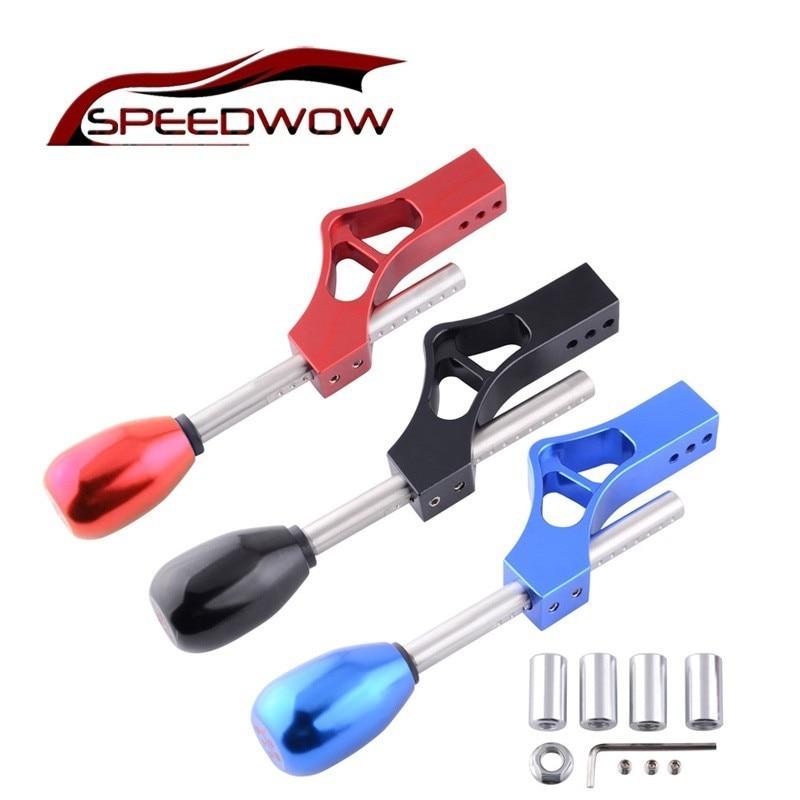 SPEEDWOW M10 * 1.5 Carro Ajustável Único Dobre Curto Shifter Extender Com Cabeça Da Shift de Engrenagem Knob Para Honda Civic Integra série D