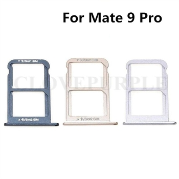 10pcs/lot Nano SIM Card Tray Holder Adapters +SD Card Holder for Huawei Mate 9 Pro Mate9 Pro