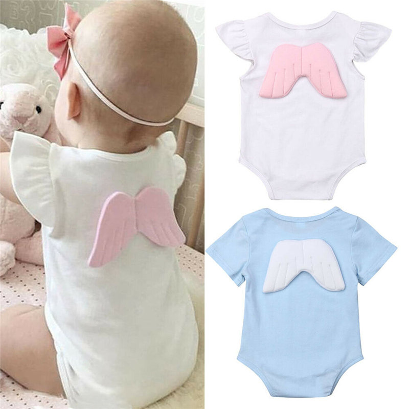 0-18 M Neugeborenen Kinder Kleidung Baby Body Infant Mädchen Jungen Sommer Overall 3d Flügel Outfit Fly Hülse Body Kleinkind Kleidung