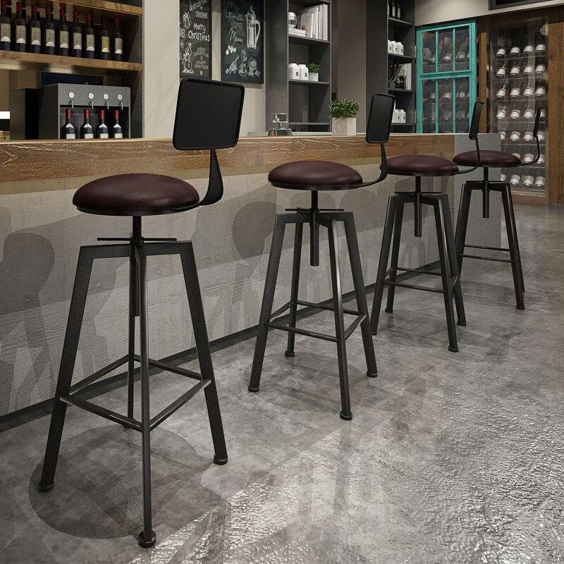 PANANA rustique industriel VINTAGE rétro métal petit déjeuner tabouret de BAR cuisine comptoir chaise