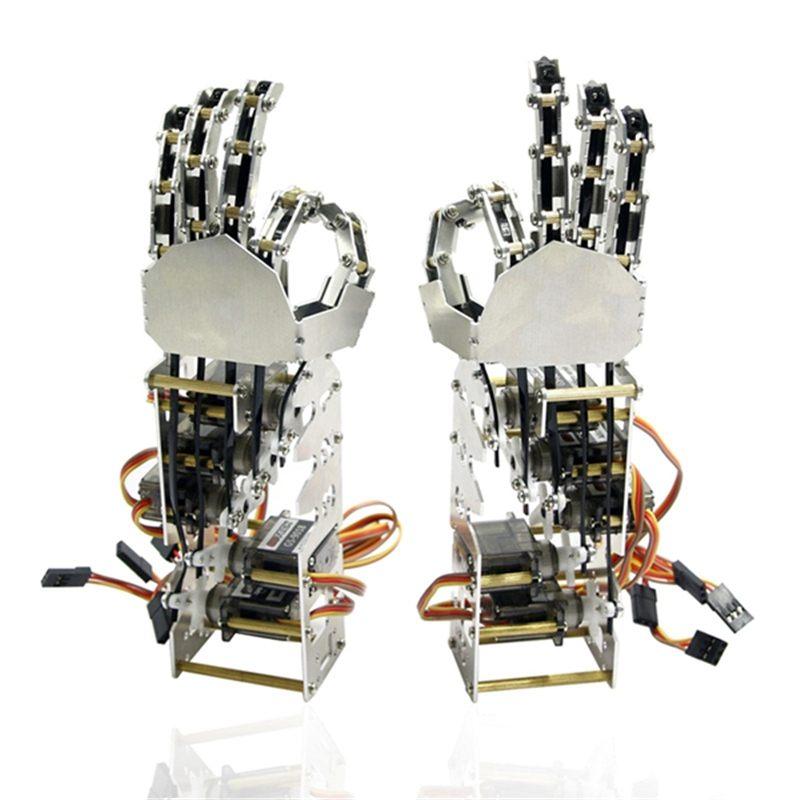 Bricolage 5DOF Robot cinq doigts métal manipulateur bras gauche et droite main QDS-1601