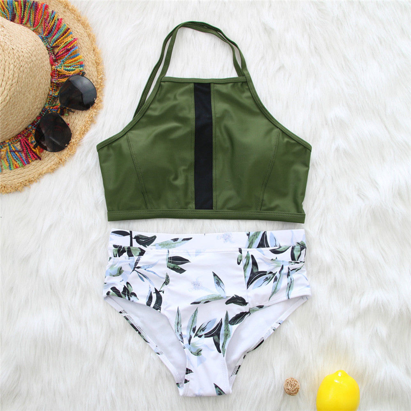 Floral Swimwear 2019 Summer Ladies Swimsuit Women High Waist Bikini Swimming Suit For Women Bikini Set Beach Wear Bathing Suit