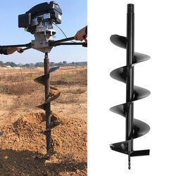 120/150/200/250mm 80cm Single Blade Auger Drill Bit Drill Garden Planting Earth Petrol Post Hole Digger Power Tools Accessories