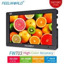 Feelworld FW703 7 дюймов 3g SDI 4 K камера HDMI поле монитор Full HD 1920×1200 IPS ЖК-монитор Дисплей для DSLR Стабилизатор для камеры