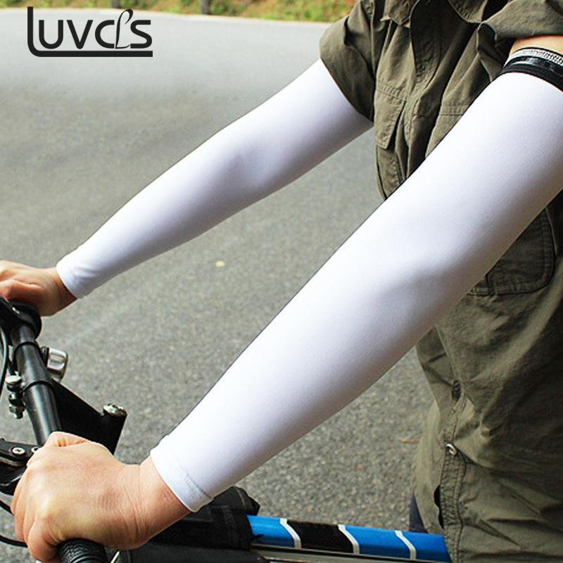 LUVCLS 1pair Women Arm Accessories Driving Sport Arm Cooling Sleeve Gloves For Sun Protection Cover Spandex Women's Arm Sleeves