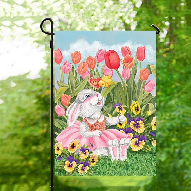 Hot Sale Fashion 32x45cm Happy Easter Garden Flag Banner ...