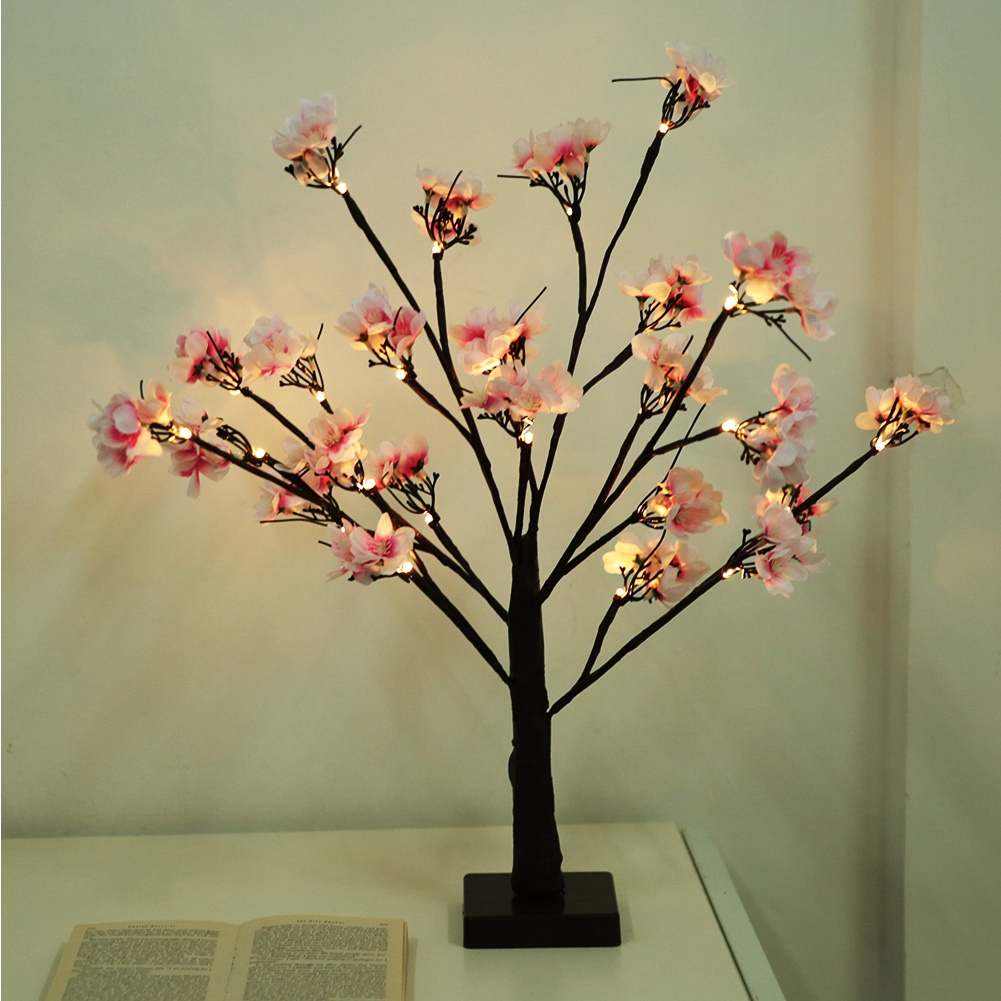 Us 13 82 39 Off 24pcs Led Cherry Tree Shape Lamp Home Party Decor Light Lights Decoration In Holiday Lighting From On