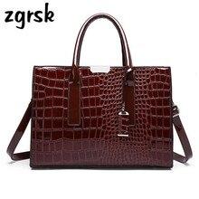 купить Ladies Handbags Soft Pu Leather Bag Women Single Shoulder Bags Designer Luxury Lady Crocodile Bag Handbag Fashion Crossbody Bags по цене 1359.29 рублей