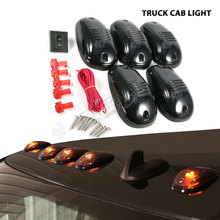 5pcs/set LED cab roof lights running marker smoke lens for 4x4 offroad SUV truck ATV pick-up CAB light warning safety lamp