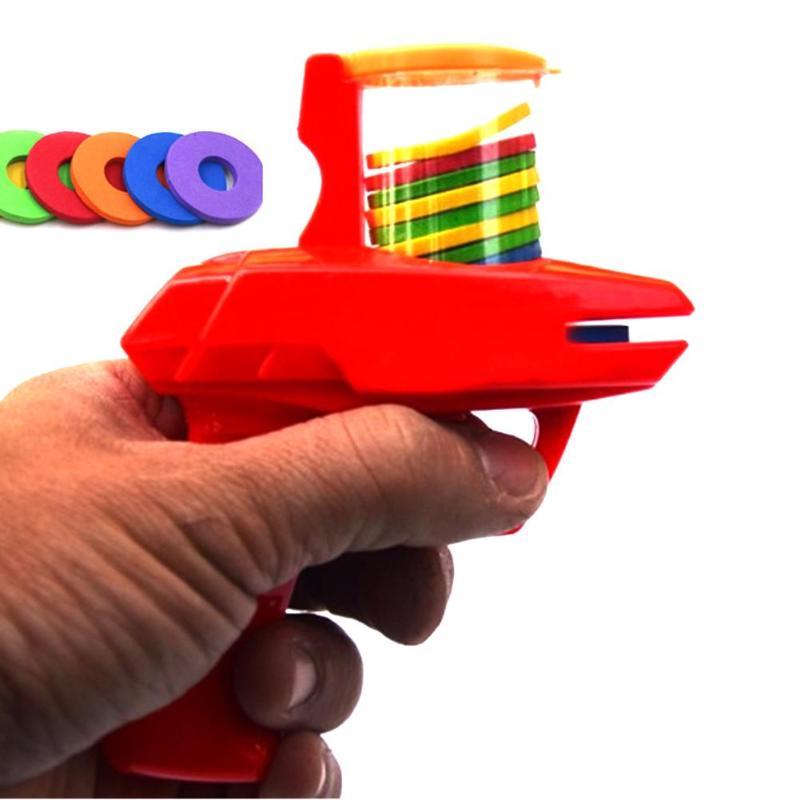 1Gun+10EVA Bullets Baby Classic Flying Saucer Gun Toy Kids Toy Safety EVA Soft Bullet Outdoor Gun Toys For Children Gift