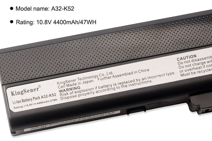 Kingsener A32 K52 Laptpo Battery for ASUS A52 A52J A52F A52JB A52JK A52JR K42 K42F K42J K42JK K52F K52J A31 K52 A41 K52 A42 K52 in Laptop Batteries from Computer Office