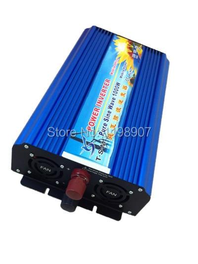 1000 W de onda senoidal pura energia solar inversor DC 12 V 24 V 48 V a 110 V AC 220 V display digital