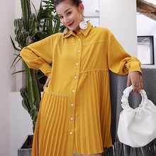 فستان كاجوال موديل قميص واسع مميز