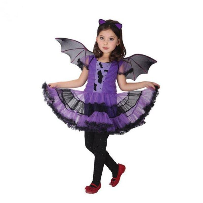 Deluxe Girls Vampire Bat Costume Halloween Carnival Purim Festival Party Fantasy Cosplay Clothing