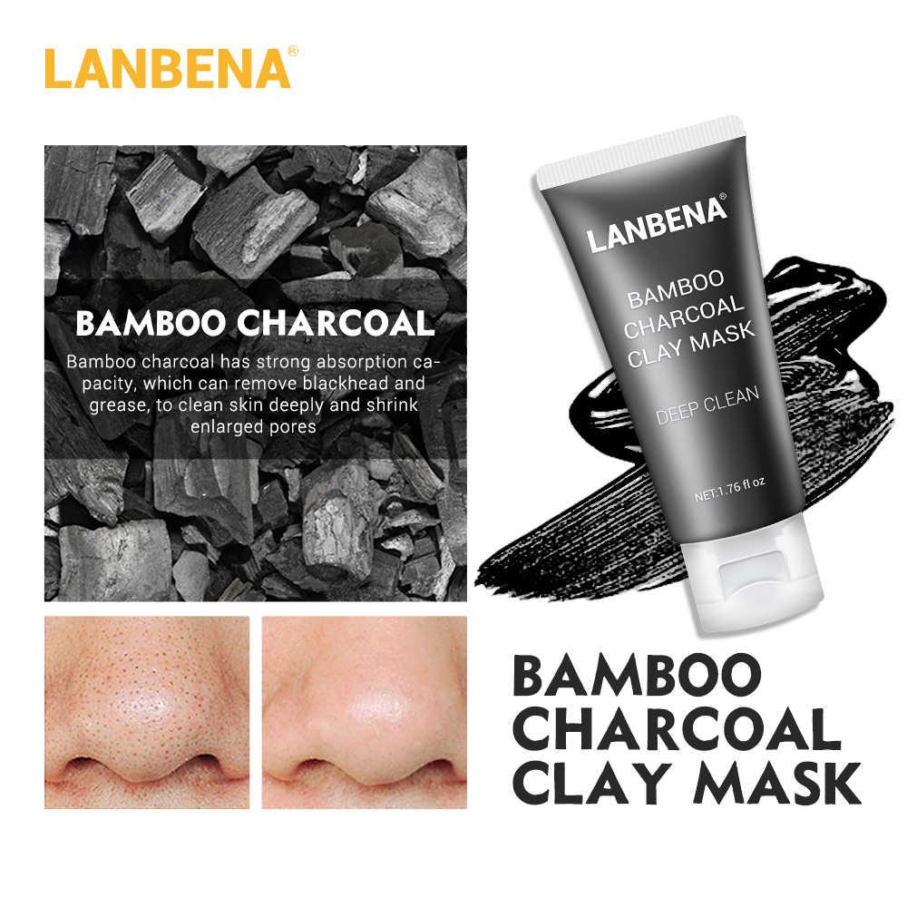 LANBENA مونج الفول الطين قناع الوجه + الخيزران الفحم + توت + روز التنظيف العميق إزالة الشحوم تنكمش المسام مغذية العناية بالبشرة